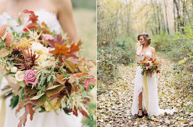 Autumn Fall Bride Wedding Film Inspiration Portland Oregon Wedding Photographer 3