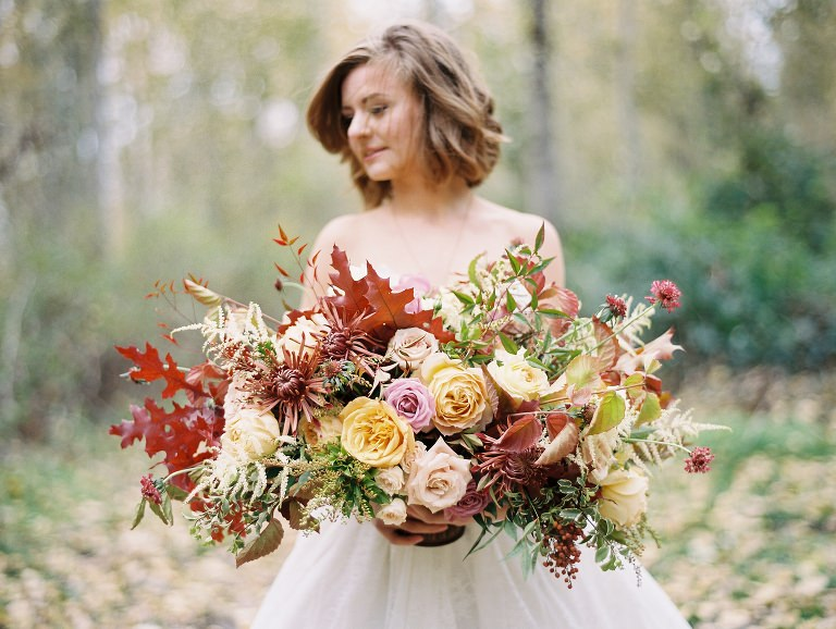 Autumn Fall Bride Wedding Film Inspiration Portland Oregon Wedding Photographer