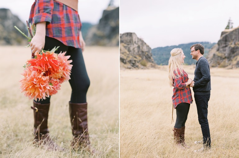 Oregon Columbia River Gorge Engagement Anniversary Film Photographer Portland Destination Texas 2