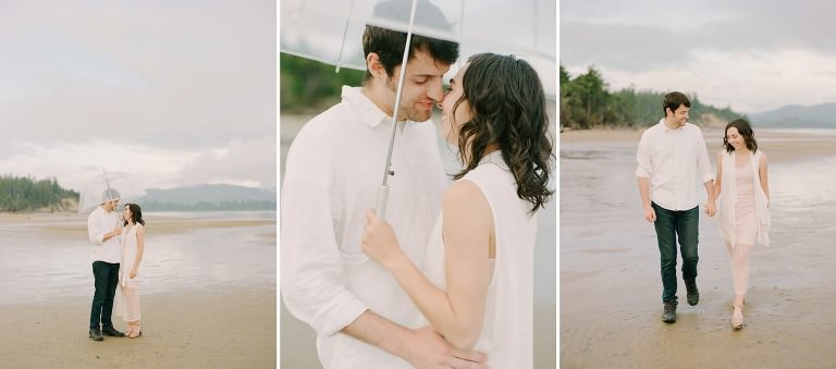 Oregon wedding photographers, Cannon Beach, Manzanita, Oregon, Engagement, Film, Fine Art, Rain