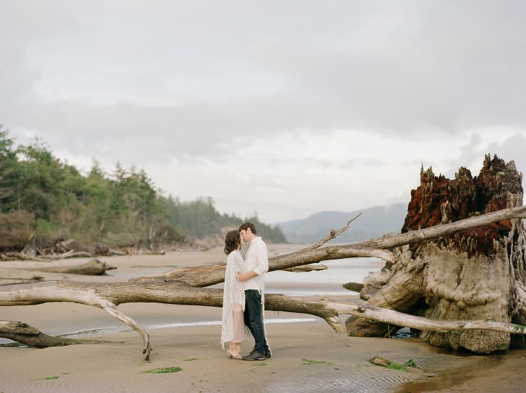 Beach engagement session, Portland wedding photographer, Cannon Beach, Manzanita, Fine Art, Film
